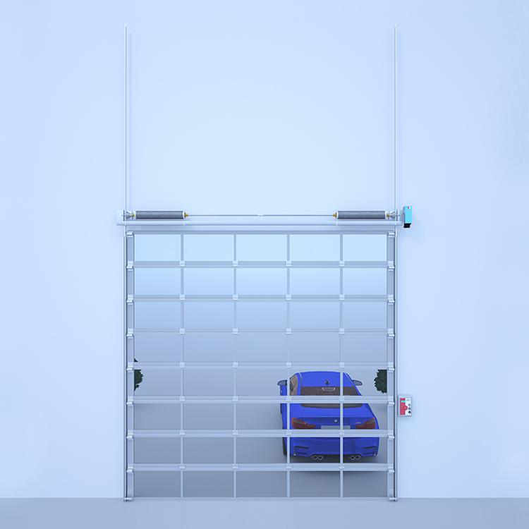 透明垂直提升门